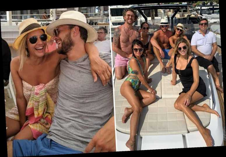 Inside Caroline Flack S Ibiza Holiday As She Takes Yacht Trips And Downs Cocktails With Boyfriend Lewis Burton The Sun Celebrity Cover News