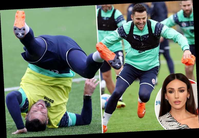 Ex Towie Star Mark Wright Trains With Side Crawley Town But Michelle Keegan Won T Become League Two S Newest Wag Celebrity Cover News